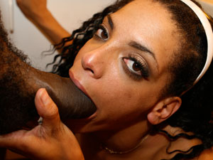 Black Chick Struggles With Big Black Dick