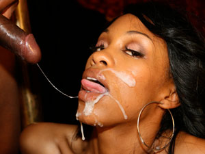 Black Chick Gets Facial In Ebony Porn